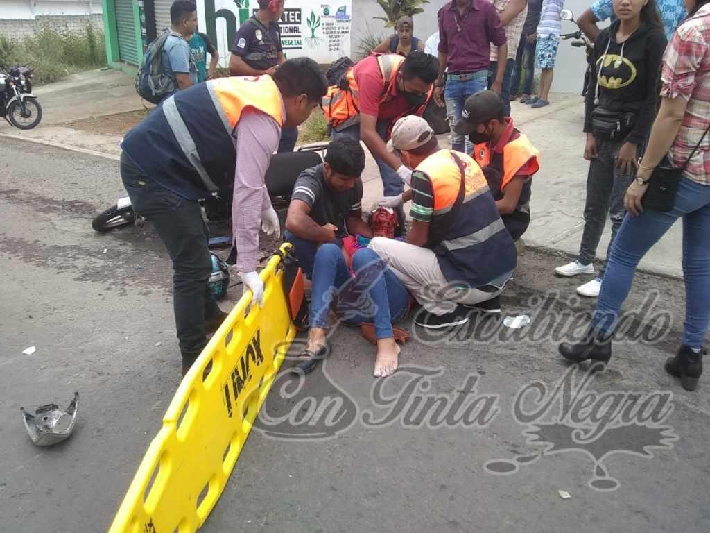 CHOCAN MOTOCICLISTAS EN BOCA DEL MONTE