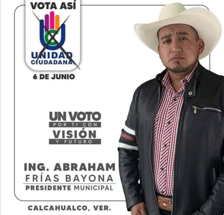 SE DESLINDA UNIDAD CIUDADANA DE EX CANDIDATO DE CALCAHUALCO