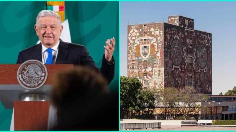 """""""UNAM SE VOLVIÓ INDIVIDUALISTA Y NEOLIBERAL"""": AMLO"""