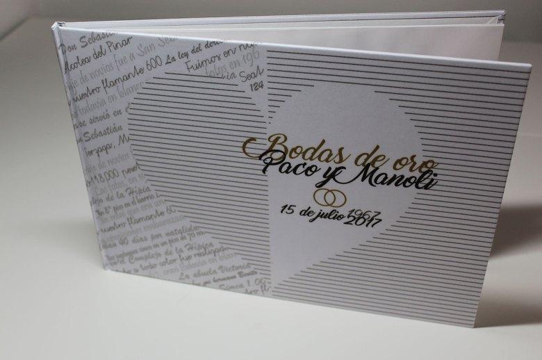 libro personalizado bodas de oro