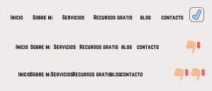 Estructura de los textos de la web - Menú