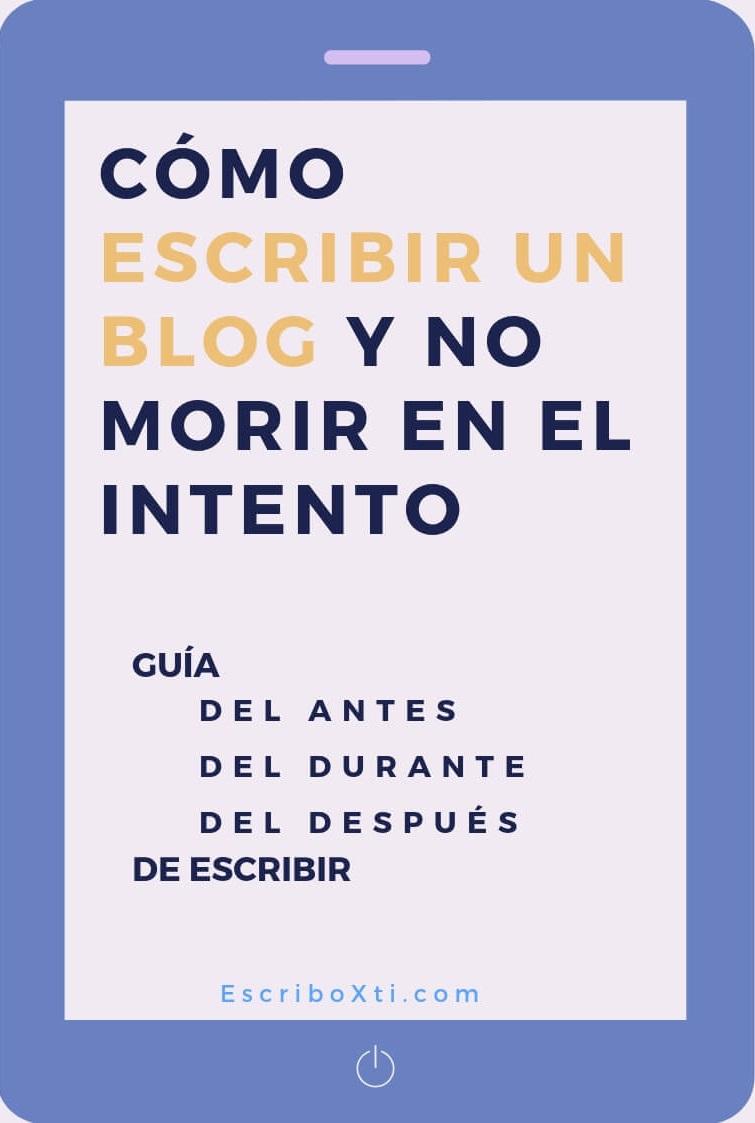 Como escribir un blog -