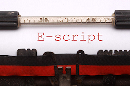 E-script typed on a typewriter