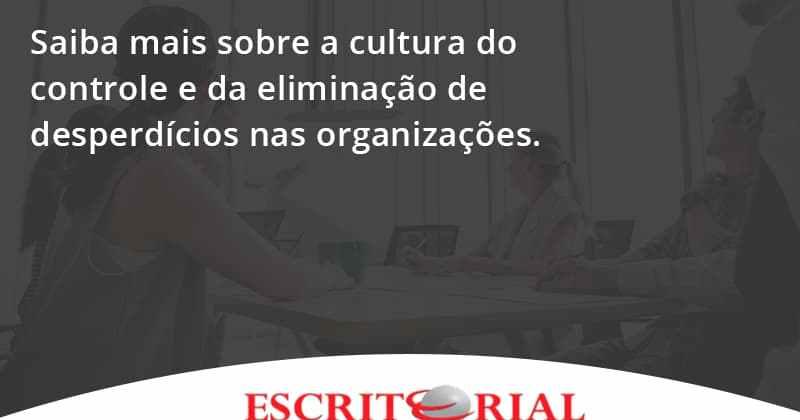 Saiba Mais Sobre A Cultura Do Controle E Da Eliminação De Desperdícios Nas Organizações. Escritorial - Contabilidade em Uberlândia | Escritorial Contabilidade