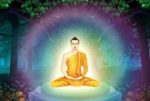 Buda bajo el árbol bodhi donde adquirio la iluminación