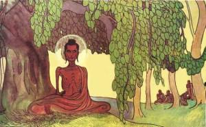 Representación del Buda practicando austeridad extrema en el bosque de Uruvela antes de realizar el Camino Medio.