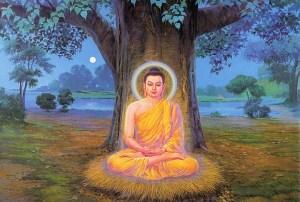 Alcanzar la iluminacion - Representación del Buda bajo el arból bodhi, lugar donde alcanzó la Iluminación, luego de 6 años de práctica y busqueda.