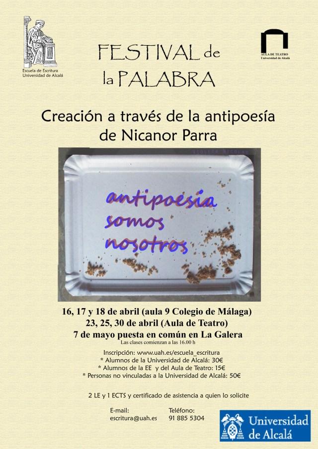 Taller de Creación a través de la antipoesía de Nicanor Parra