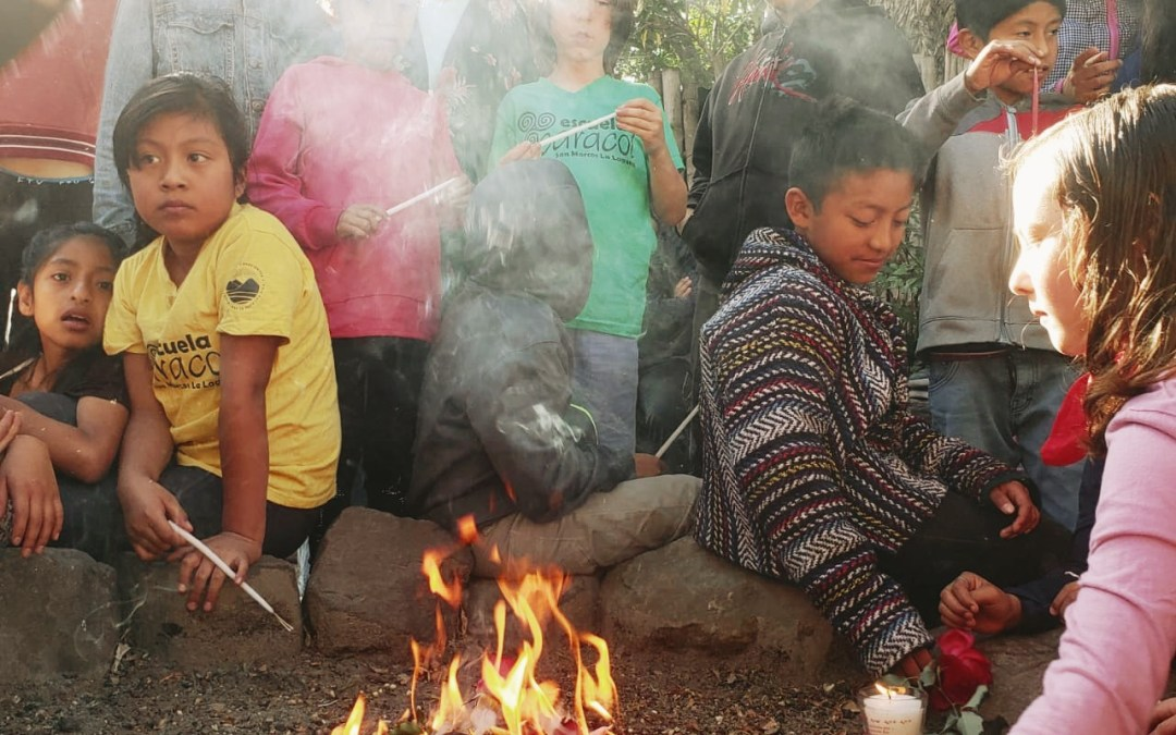 Teachers and students celebrate the Mayan Solar New Year.