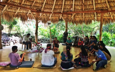Cacao Ceremony, ancestral tradition of the Mayan people.
