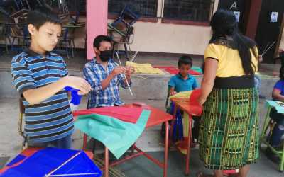 kite-making workshop for the community