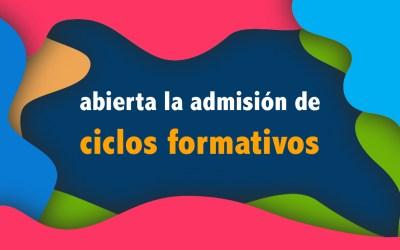 Admisión abierta para ciclos formativos 2020/21