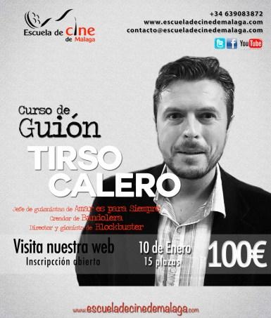 04 Cruso de Guion con Tirso Calero en la Escuela de cine de Malaga