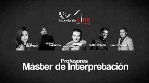 Escuela Cine Malaga Cursos Master Series Cortometrajes Festival Profesores rodaje  interpretacion casting actores actrices