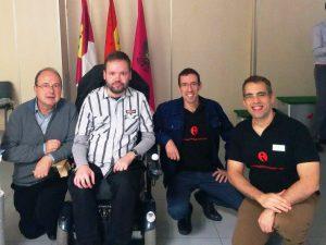 De izquierda a derecha: Paco Páez, Johannes Mallow, José Mª Bea, Marco García Baturan