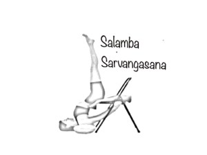soporte en silla, yoga