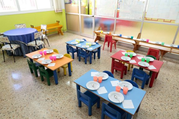 Comedor independiente de la cocina propia de la Escuela Infantil Booma
