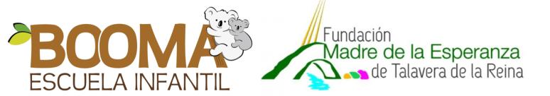 Logos de la Escuela Infantil Booma y de la Fundación Madre de la Esperanza.