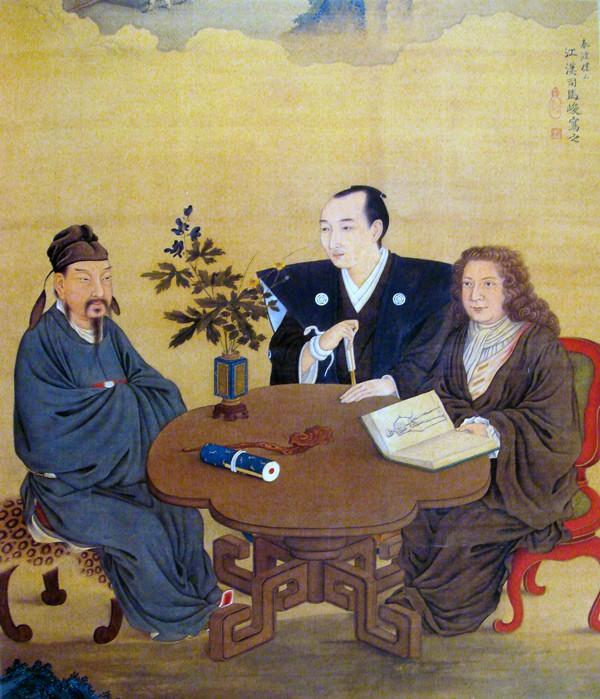 Encuentro entre Japón, China y Occidente.  Shiba Kokan (siglo XVIII)