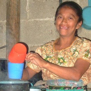Woman cooking for student