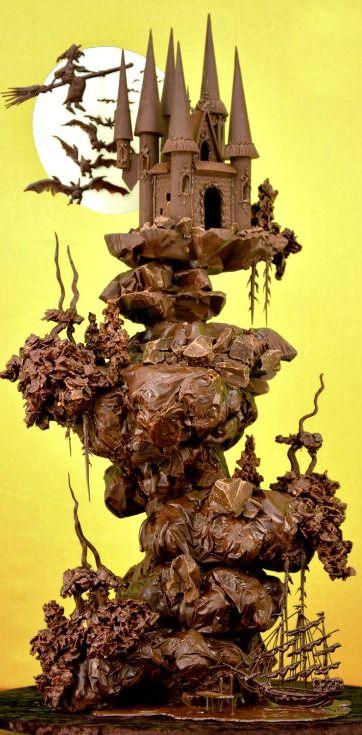 escultura de chocolate 1