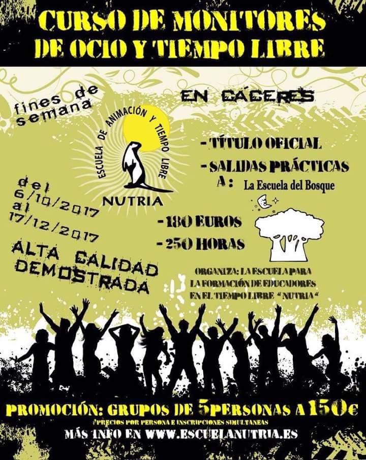 Curso de monitor de ocio y tiempo libre en Cáceres, Asociación Juvenil Nutria