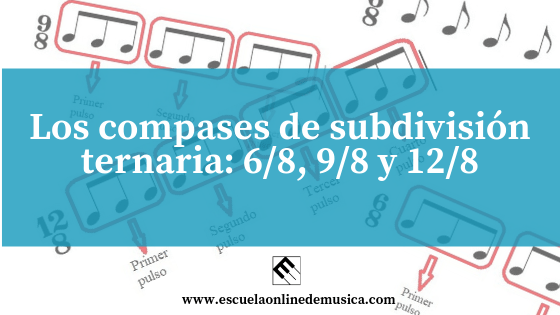 Los compases de subdivisión ternaria: 6/8, 9/8 y 12/8