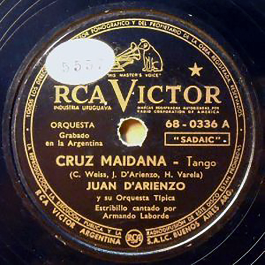 Cruz Maidana, vinyl disc by D'Arienzo-Laborde