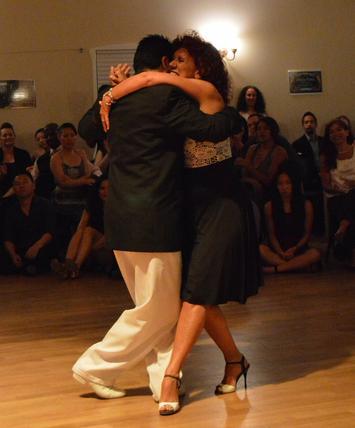 Alicia Pons & Luis Rojas dancing at Escuela de Tango de Buenos Aires.