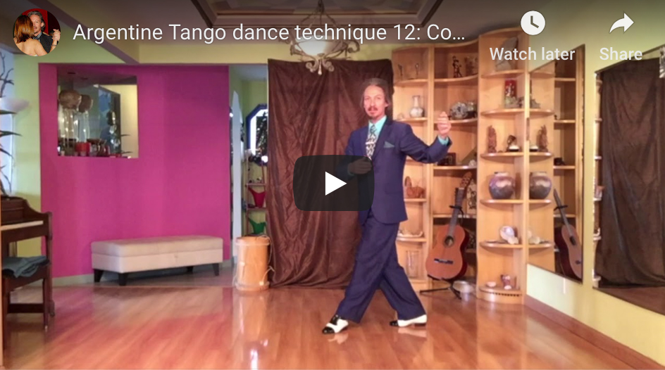 Argentine Tango Technique 12: Backward ocho. With Marcelo Solis.