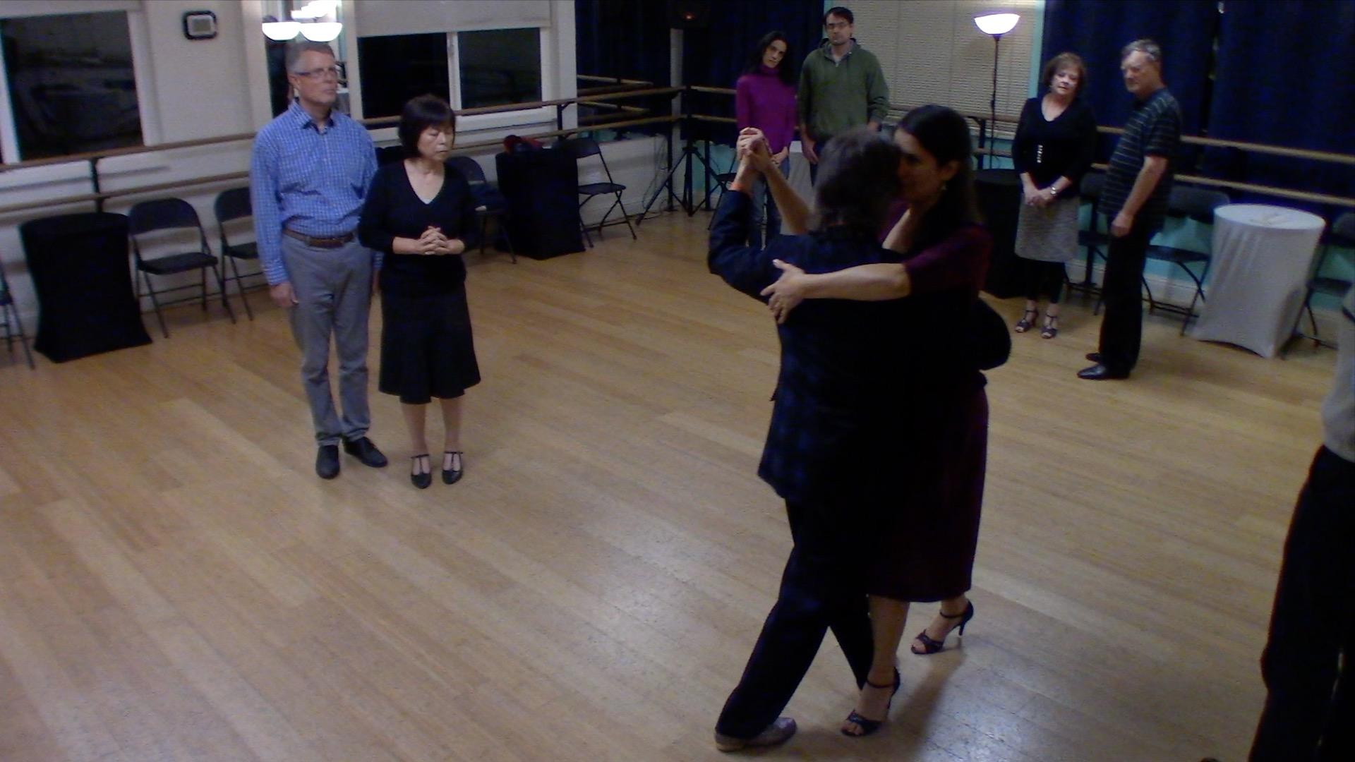 Argentine Tango beginner class with Mimi: walking 2