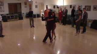 Argentine Tango beginner class with Miranda- crossed system walk