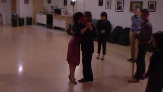 Argentine Tango beginner class with Miranda- forward ocho
