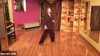 Argentine Tango class- sequence double backward ocho, turn, sacada, backward ocho