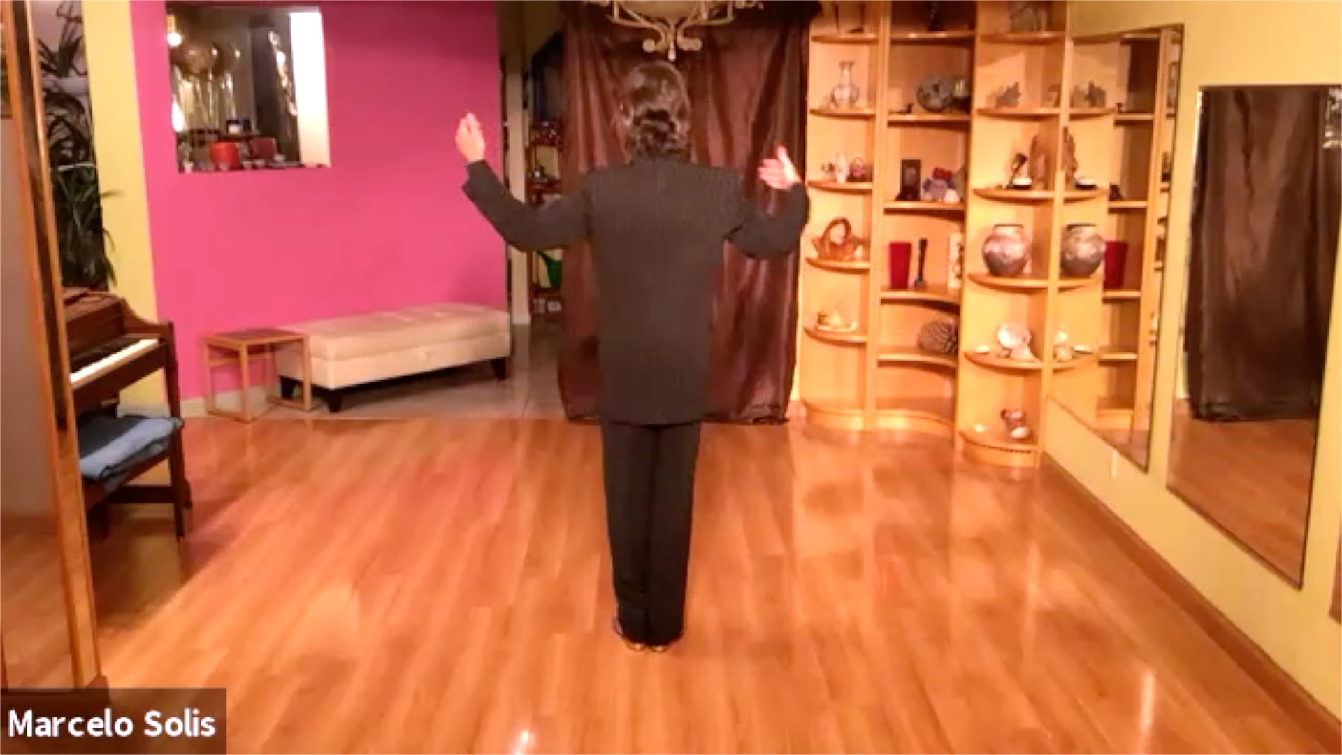 Argentine Tango class: sequence of backward ocho, forward backward, and forward ocho cortado