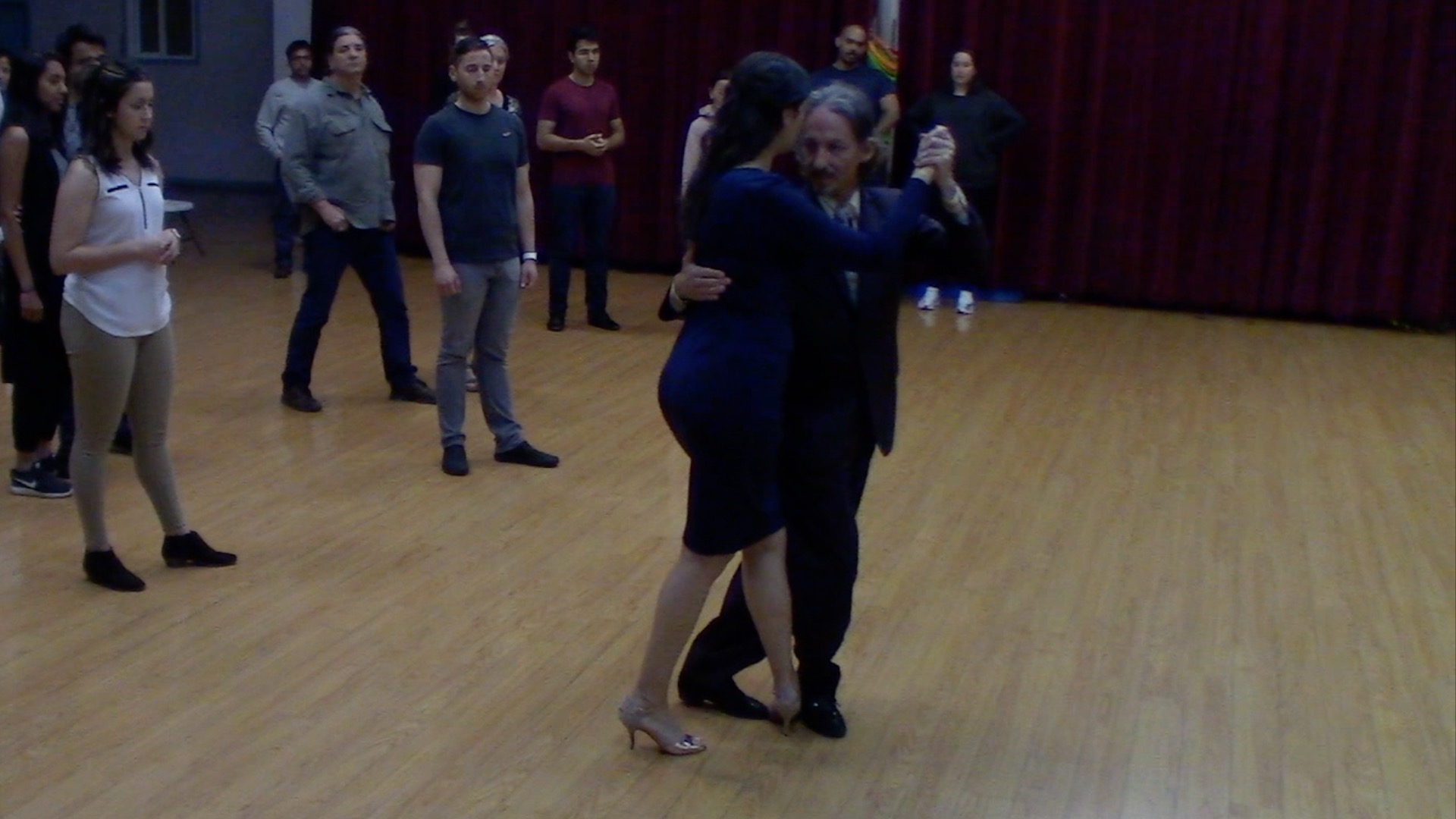 Argentine Tango dancing with Mimi at an introductory class for new students
