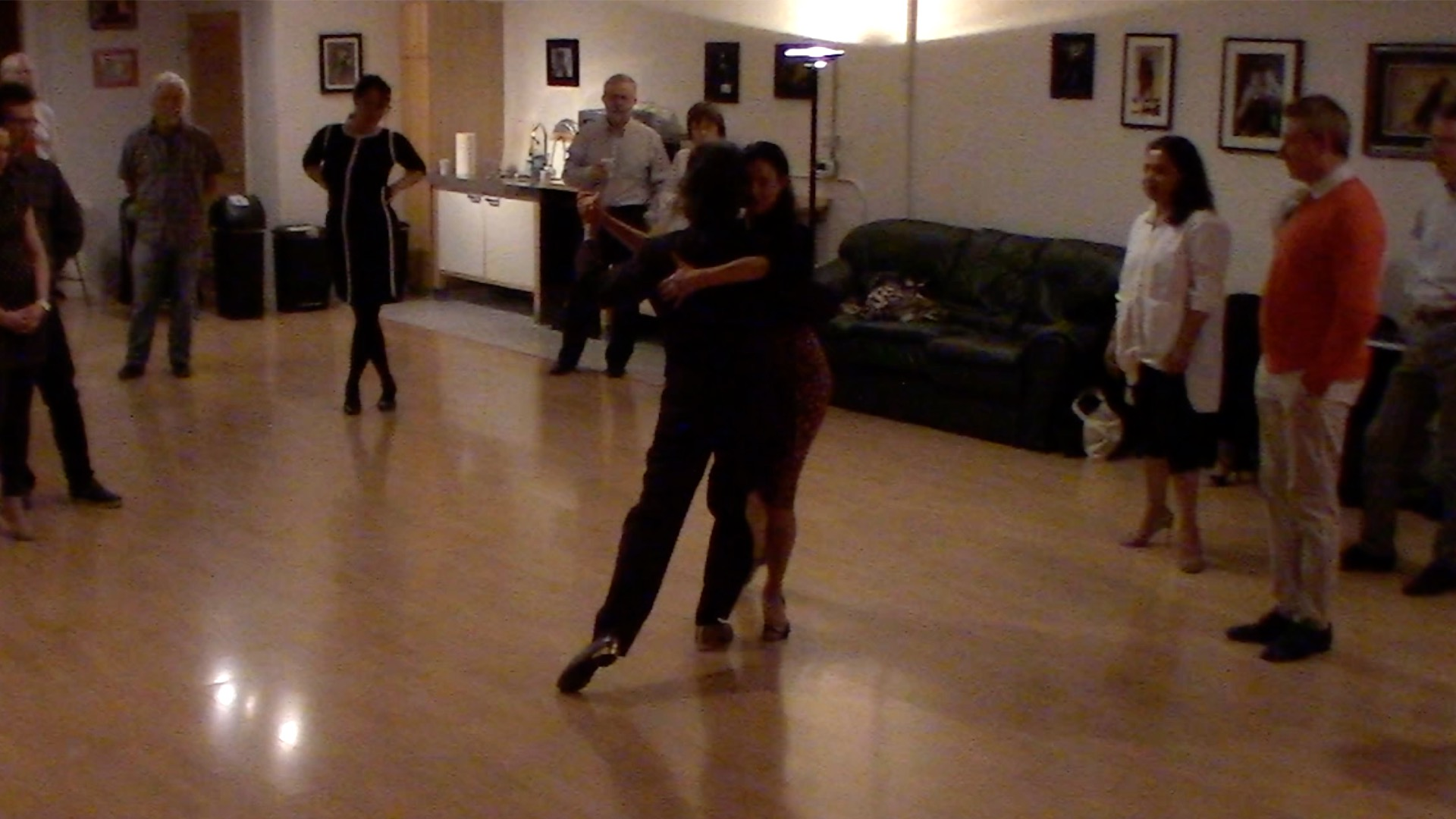 Argentine Tango dancing with Miranda: Final review for intermediate class in San Francisco