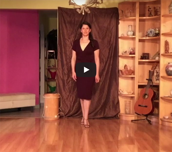 Argentine Tango follower's technique 5_ Walk_Video_class