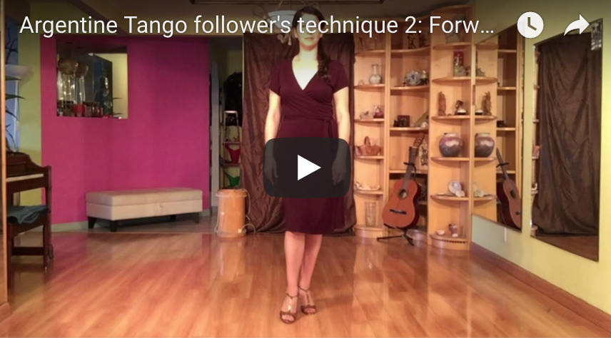 Argentine Tango follower's technique 2 video lesson