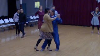 Argentine Tango intermediate class with Mimi- parallel system sacada with crossed system exit