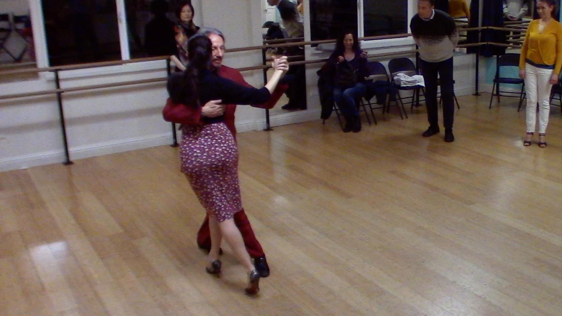 Argentine Tango intermediate class with Miranda: calecita (carousel)