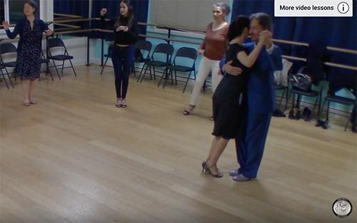 Argentine Tango intermediate class with Miranda_ milonga, side step