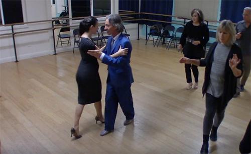Argentine Tango intermediate class with Miranda_ milonga traspie basic