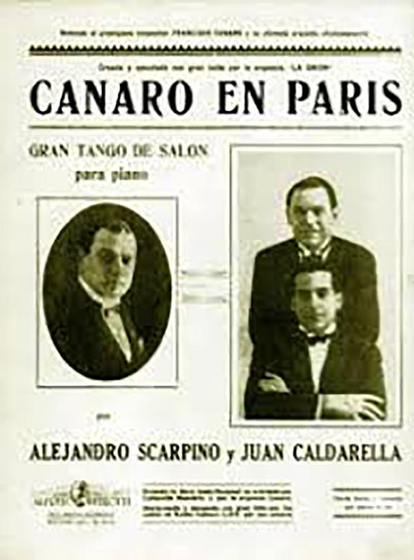 Canaro en Paris. Music sheet original cover.