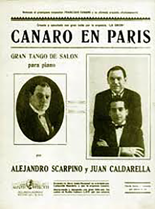 Canaro en Paris. Music sheet original cover.