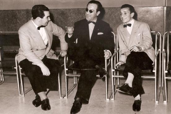 Carlos Di Sarli with Alberto Podestá and Roberto Rufino, Argentine Tango musical artists.