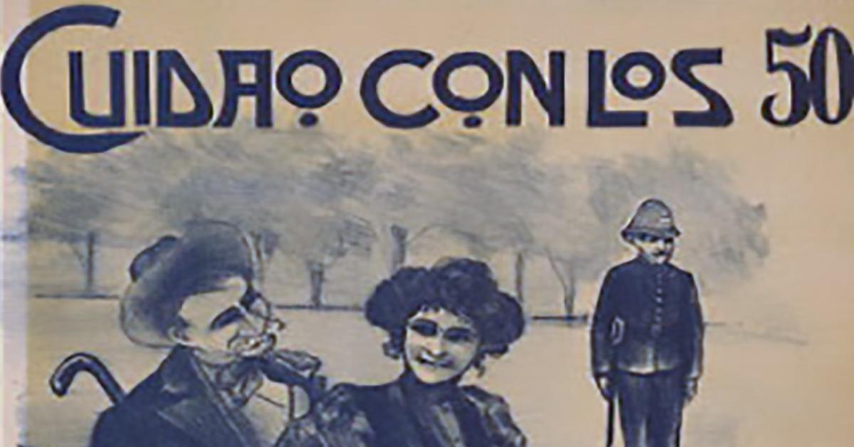 """""""Cuidado con los cincuenta"""", Argentine Tango music sheet cover."""