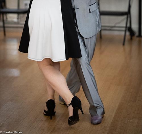 Dancing Argentine Tango. Feet.