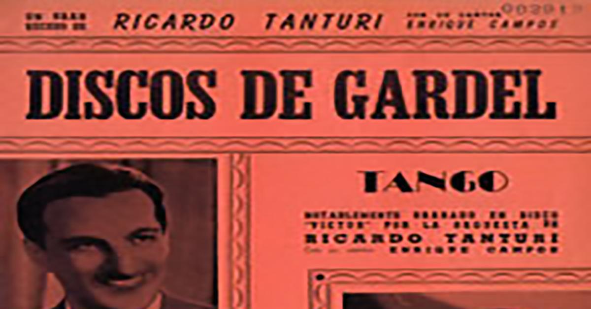 """Discos de Gardel"", Argentine Tango music sheet cover."