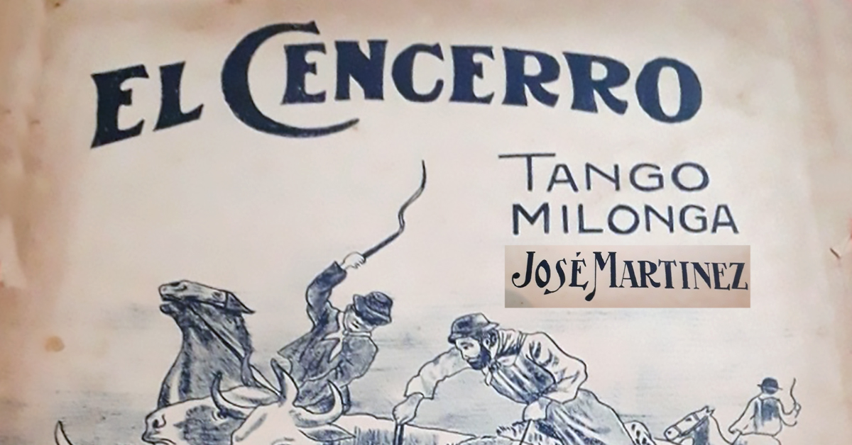 """""""El Cencerro"""", Argentine Tango music sheet cover."""